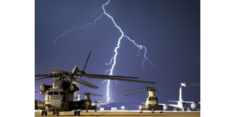 Aircraft_Helicopter_Lightning. Lightning certification of aircraft. This series of articles goes over the many steps involved with the certification of aircraft for lightning events and lightning strikes. Lightning protection of aircraft.